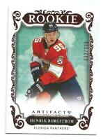 18-19 UD Artifacts Henrik Borgstrom Rookie Card RC Ruby #d /399 FLORIDA PANTHERS