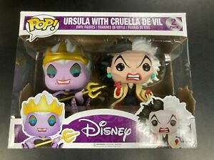 Ursula With Cruella De Vil 2 Pack Funko Pop Vinyl Figures - Very Good Condition