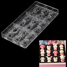 Hello Kitty KT Cat Rabbit Bear Sheep Hard Polycarbonate PC Chocolate Jelly Mold