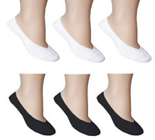 Ladies Women Invisible Socks Shoe Liners Footies Cotton Rich Black Trainer Balle