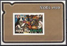 Zaire Block 39 ungezähnt mit Falz Weihnachten 1980