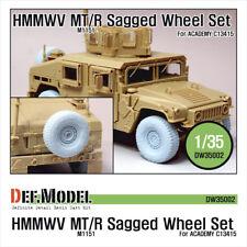 DEF. Model, DW35002, M1151 HMMWV MT/R affaissée Roue Set-One Piece type, 1:35
