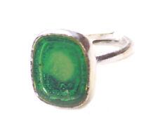 Verde Eléctrico Ventana de esmalte translúcido/Anillo de mano Cromo Ajustable (Zx177)