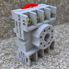 NTE R95-113 8 Pin Octal Relay Socket Screw Terminals DIN Panel Mount 300V 15A