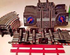 🔥Scx Compact Slot Car Trax Lot 26 Pc. 10 Curve, 7 Lap counters, 1 cross, 6 sta