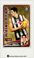 2008 Herald Sun AFL Trading Cards Risingstar Nominee RSN4 Pendlebury-Collingwood