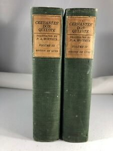 Cervantes Don Quichotte De La Mancha Vol III & IV Edition de Luxe 1920 Reliure