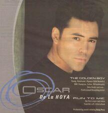Vintage print Radio Music Promo ad Oscar De La Hoya Run to Me Gold Medalist