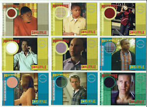 Smallville Seasons 1 to 5 Inkworks Pieceworks Costume Relic Card Selection PW