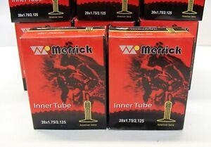 "~ 2 New Merrick 20"" x 1.75-2.125"" Bicycle Inner Tubes 32mm Schrader Valve BMX ~"