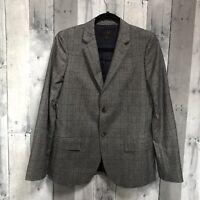 j crew Women's Ludlow Blazer In Glen Plaid Italian Wool Gray Size 8
