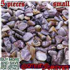 5 Small 10mm Combo Ship Tumbled Gem Stone Crystal Natural - Agate Crazy Lace