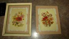 Vintage Print Framed  London Florals 1783-1843 & an Extra Print & Glass No Frame