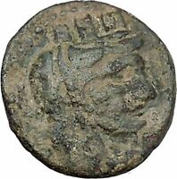 Kelenderis in Cilicia 2-1stCenBC Tyche Apollo Tripod Ancient Greek Coin i47181
