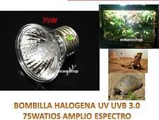 LAMPARA HALOGENA 75W UVA UVB UV REPTILES terrario calentadora tortuga bombilla