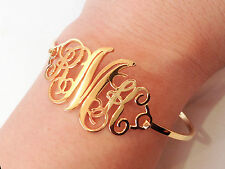Monogram Name Bracelet- Personalized Bracelet - Custom Name Bracelet