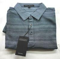 Robert Barakett Mens Short Sleeve Darnley Stripe Pique Polo Shirt Medium