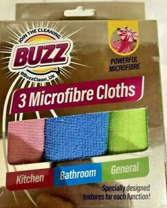 Microfibre Cleaning Cloths Soft Multi-Colour Kitchen Bathroom General Surface