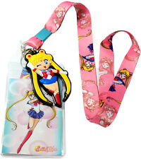 Sailor Moon Lanyard Badge ID Holder & PVC Charm Official Licensed GE Animation
