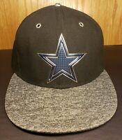 Dallas Cowboys Black & Gray NFL New Era 59fifty fitted cap/hat Size 7 3/8