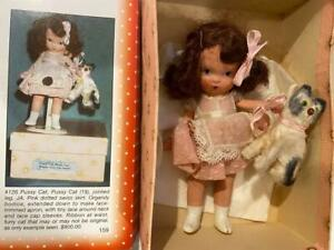 NASB Nancy Ann Storybook Doll JA Bisque 126 Pussy Cat RARE Book Piece, HTF,Box