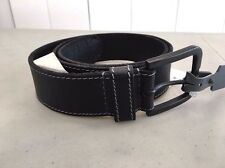 NEW! Nordstrom TIMBERLAND B75451 Oily Milled Genuine LEATHER Belt, 34 - BLACK