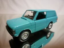 SOLIDO RANGE ROVER VAN - BLUE 1:43 VERY RARE - GOOD CONDITION