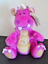 Peponi Fat Mini Dragon LULU 6-Inch Long Pink Stuffed Plush Dragon
