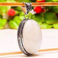 "Jewelry Pendant 2.29"" P-894 Fascinating Rainbow Moonstone Gemstone Vintage"