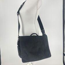 Coach Black Messenger Bag Nylon & Leather Trim & Strap