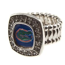 Florida Gators  rhinestone square  face stretch ring, new,one size fits all
