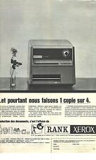 PUBLICITE ADVERTISING  1966   RANK XEROX photocopieur