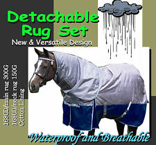 """COMFORT VERSATILE DETACHABLE 5'9"""" WINTER  PADDOCK HORSE RUG SET(s)"""