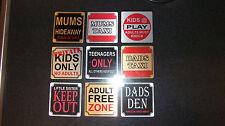 Personalised printed fun door signs 80mm X 80mm