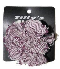 NEW TILLY'S WOMENS GIRLS PLAID TWEED PURPLE BROOCH PURSE CHARM FLOWER HAIR BOW