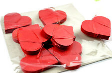 E002-9 New Stage Magic 9 Pcs Heart Shaped Red Snowstorms Gimmick Like Propellers