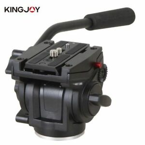 Professional Tripod Head Heavy Duty Fluid Video Head for Camera Tripod VT3510