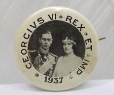 Vintage 1937 Georgivs Vi Rex Et Imp Pinback Button