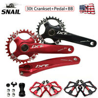IXF 30T 104bcd CNC MTB Bike Crankset BB Narrow Wide Chainring 170mm Crank Pedal