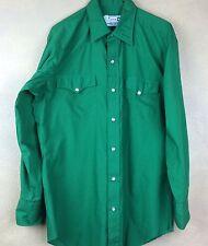 H Bar C Ranchwear Green Western Snap Shirt Square Dance 15 1/2 X 32