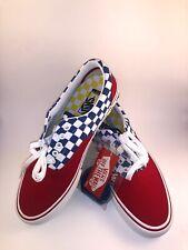 Vans Era Pro Red Blue yellow Checkerboard  Skate Shoes Men's Size 11 M ULTRACUSH