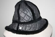 UGG Womens Quilted Cloche Shearling Bucket Hat Black NWOT e85bcacc42ff