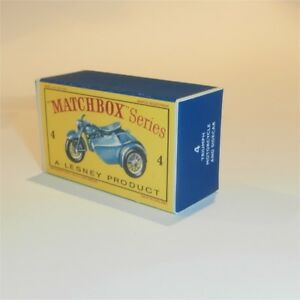 Matchbox Lesney  4 c Triumph Motor Cycle Empty Repro D Style Box