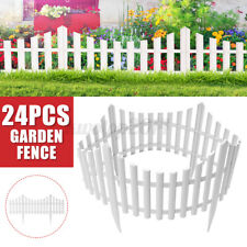 24Pack Garden Plastic Fence Outdoor Lawn Edging Border Panel Edge Fencing Usa