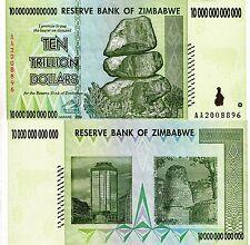 ZIMBABWE 10 Trillion Dollars Banknote World Paper Money VF+ Currency Pick p-88