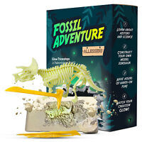 Allessimo Fossil Adventure - Glow Triceratops Jr. Paleontologist Dig Kit