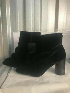 ZARA BLACK ANKLE BOOTS SIZE 7 -41  NEW WITH TAGS