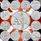 10p ALPHABET RARE COINS 2018 AND 2019 UNCIRCULATED ROBIN ANGEL BOND NHS LOCHNESS