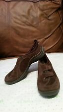 Clarks Privo sz.6.5 M Athleisure sport shoes brown nubuck/ perforated suede New