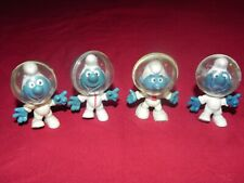 LOT OF 4 VINTAGE MOON SMURFS 2.0003 PLUS EXTREMELY RARE VERSION!